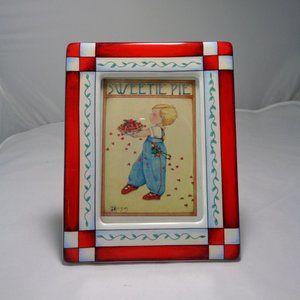 Mary Engelbreit Red & White Porcelain Frame HTF